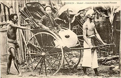 Phu xe kéo ở Hà Nội