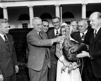Harry Truman as pardoning the first turkey in 1947